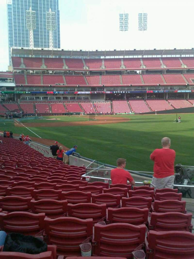 Seating view for Great American Ball Park Section 138 Row EE Seat 1