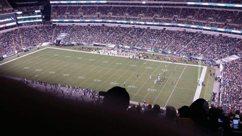 Seating view for Lincoln Financial Field Section 205 Row 26 Seat 12
