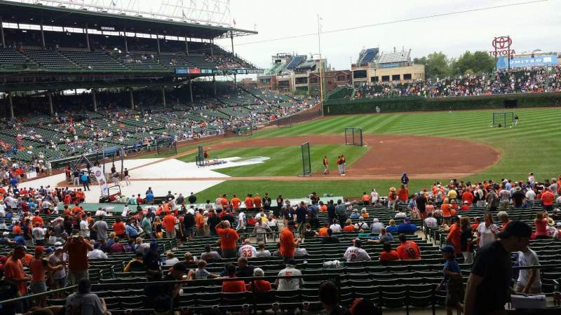 Seating view for Wrigley Field Section 225 Row 10 Seat 22
