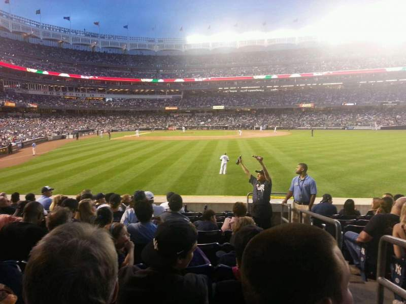 Seating view for Yankee Stadium Section 105 Row 18 Seat 1