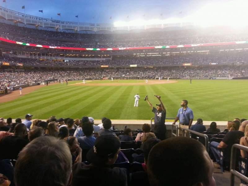 Yankee Stadium, section: 105, row: 18, seat: 1