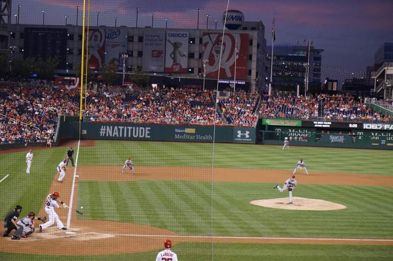 Seating view for Nationals Park Section 126 Row f Seat 5