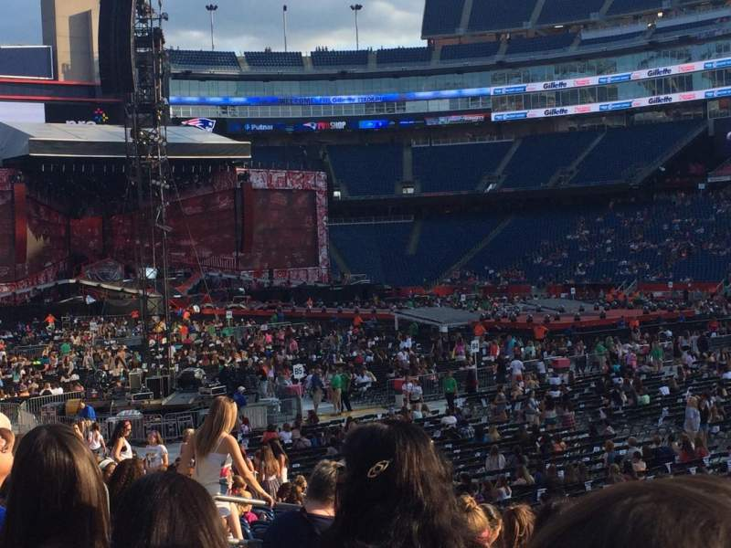 Seating view for Gillette Stadium Section 105 Row 18 Seat 1