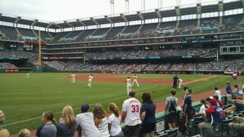 Seating view for Progressive Field Section 171 Row 5 Seat 10