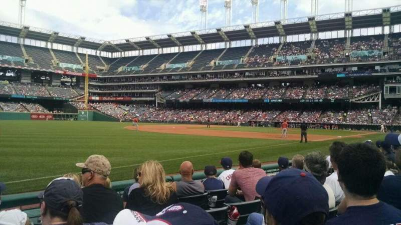 Seating view for Progressive Field Section 171 Row E Seat 10