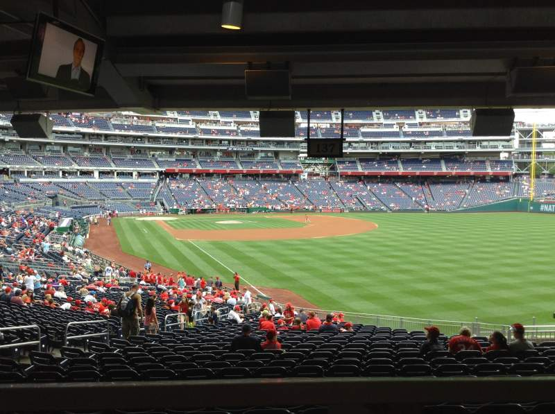 Seating view for Nationals Park Section 137 Row ww Seat 16