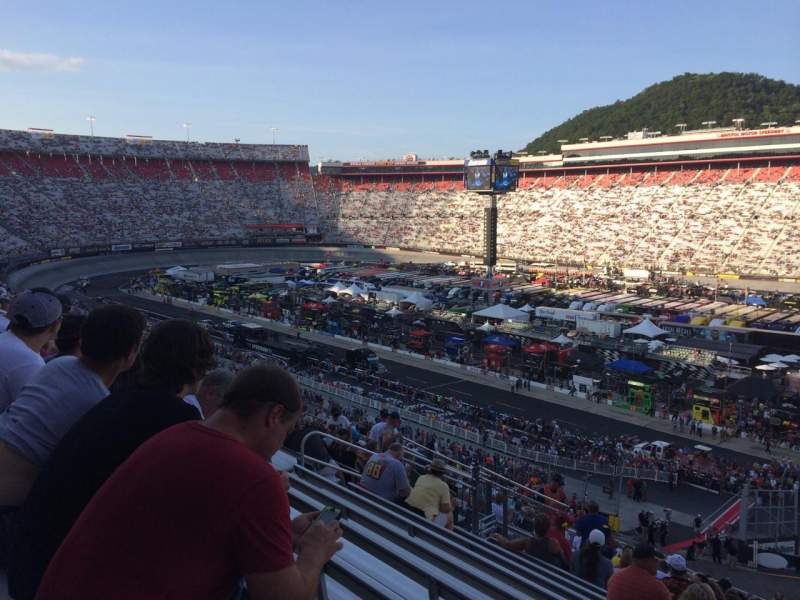 Seating view for Bristol Motor Speedway Section Dw-hh Row 39 Seat 20