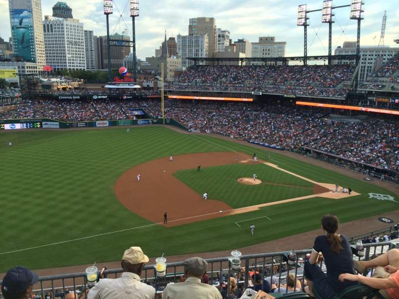Seating view for Comerica Park Section 337 Row 1 Seat 16