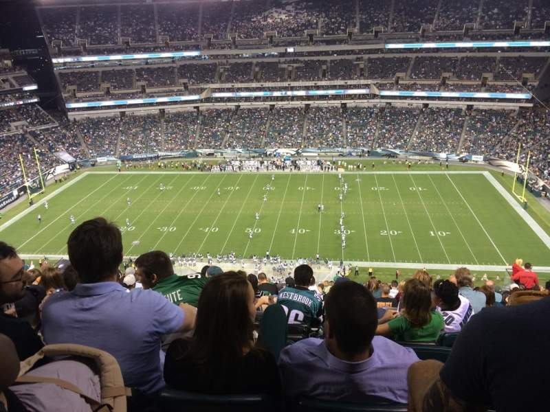 Seating view for Lincoln Financial Field Section 226 Row 22 Seat 15