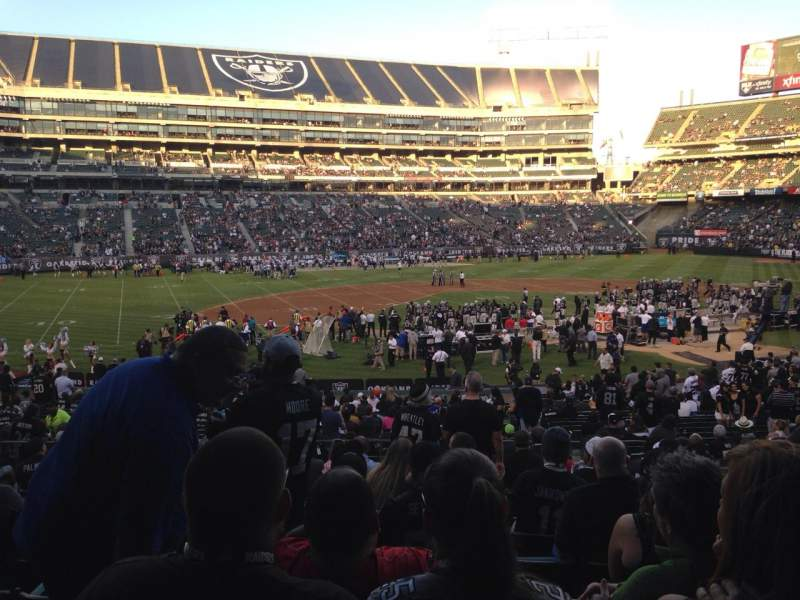 Seating view for Oakland Alameda Coliseum Section 120 Row 32 Seat 10