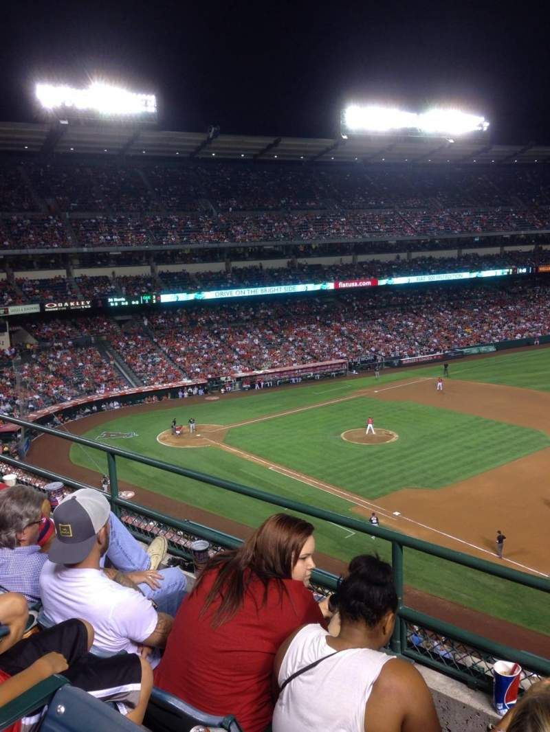Seating view for Angel Stadium Section V427 Row C Seat 22