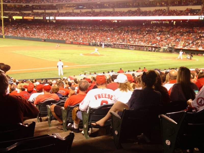 Seating view for Angel Stadium Section F109 Row Y Seat 17