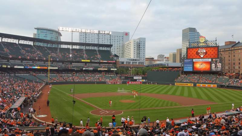 Seating view for Oriole Park at Camden Yards Section 33 Row 6 Seat 4