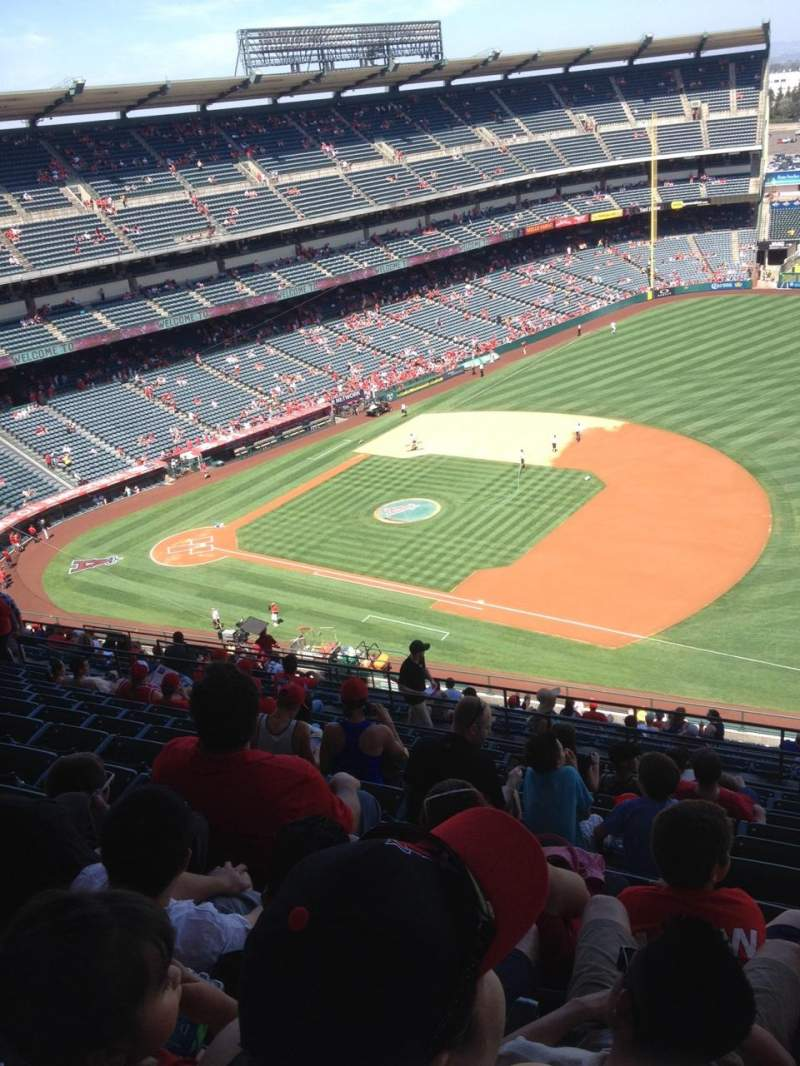 Seating view for Angel Stadium Section 530 Row M Seat 22