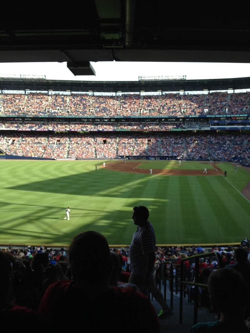 Seating view for Turner Field Section 236L Row 12 Seat 101