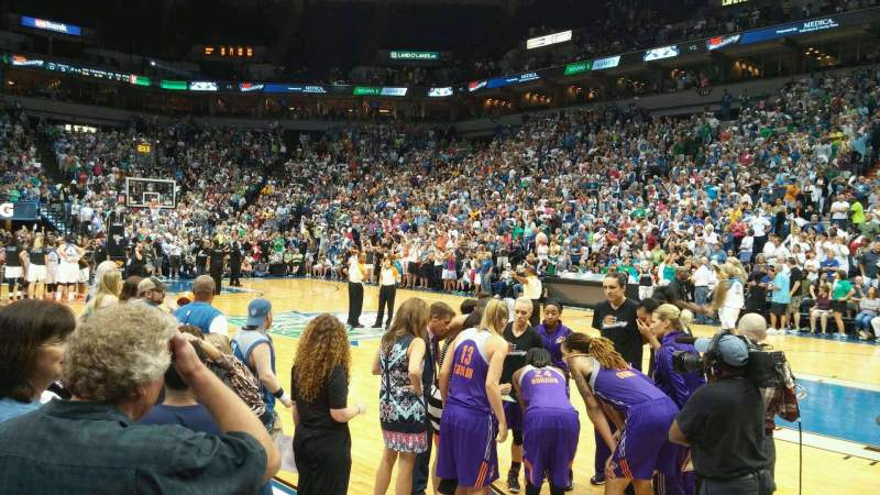 Seating view for Target Center Section 129 Row 2 Seat 2