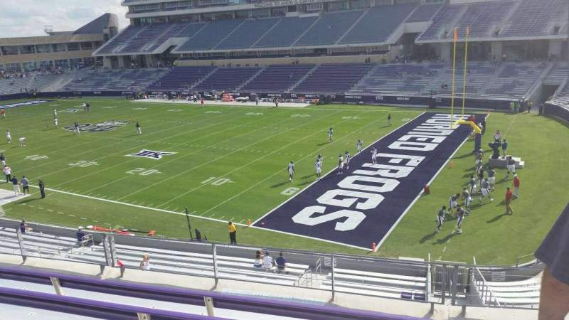 Seating view for Amon G. Carter Stadium Section 230 Row E Seat 1