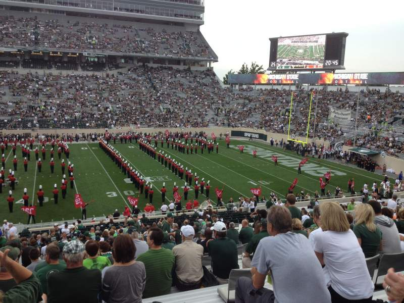 Seating view for Spartan Stadium Section 8 Row 44 Seat 13