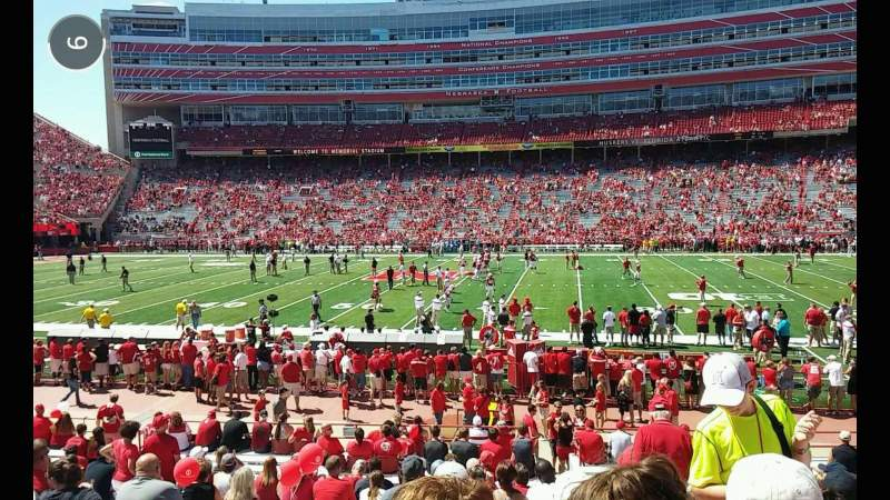Seating view for Memorial Stadium Section 5 Row 15