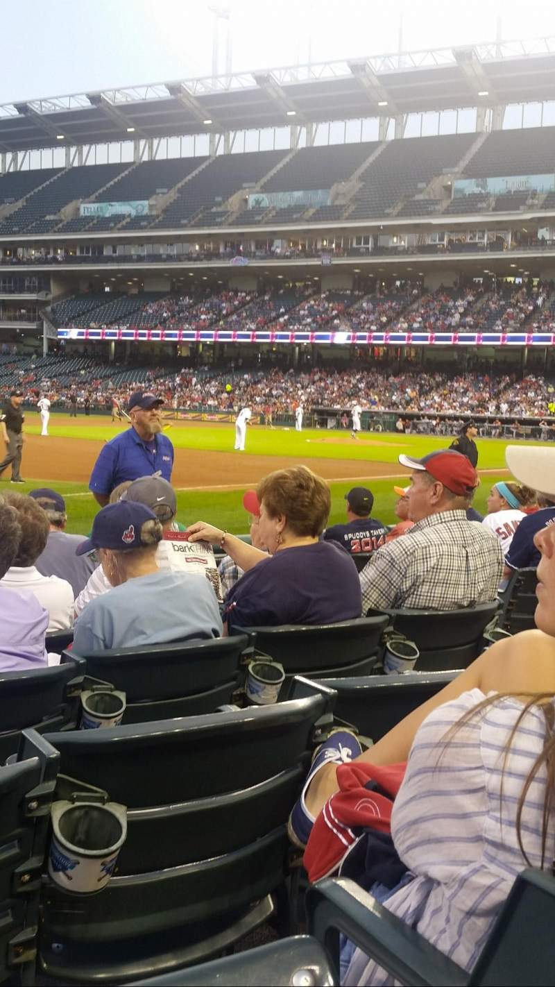 Seating view for Progressive Field Section 169 Row G Seat 5