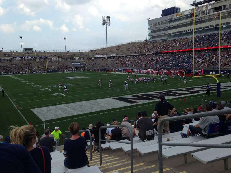 Seating view for Rentschler Field Section 129 Row 13 Seat 3