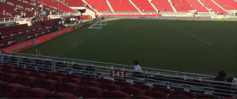 Seating view for Levi's Stadium Section 143 Row 10 Seat 4