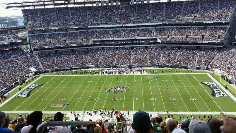 Seating view for Lincoln Financial Field Section 226 Row 22 Seat 25