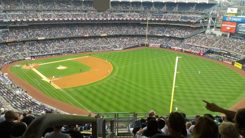 Seating view for Yankee Stadium Section 409 Row 14 Seat 1