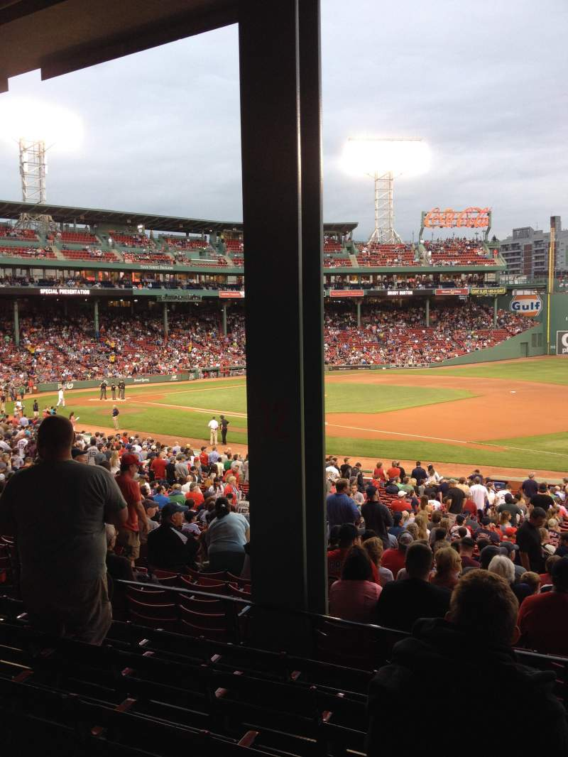 Seating view for Fenway Park Section Grandstand 12 Row 6 Seat 9