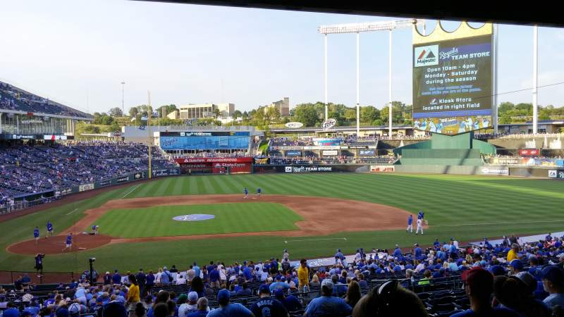 Seating view for Kauffman Stadium Section 232 Row NN Seat 17