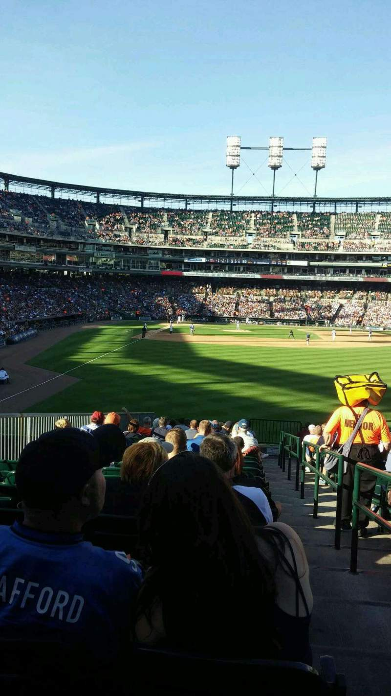 Seating view for Comerica Park Section 106 Row w Seat 1