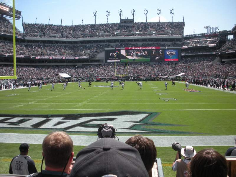 Seating view for Lincoln Financial Field Section 130 Row 3 Seat 15