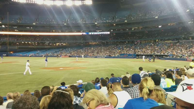 Seating view for Rogers Centre Section 129L Row 9 Seat 110
