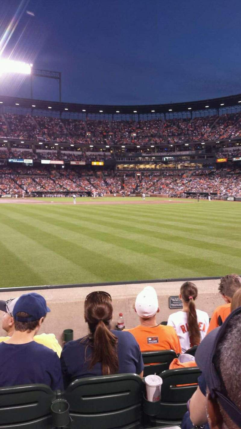 Seating view for Oriole Park at Camden Yards Section 84 Row 5 Seat 15-16-17