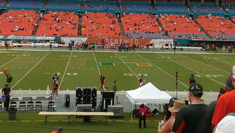 Seating view for Hard Rock Stadium Section 115 Row 19 Seat 4