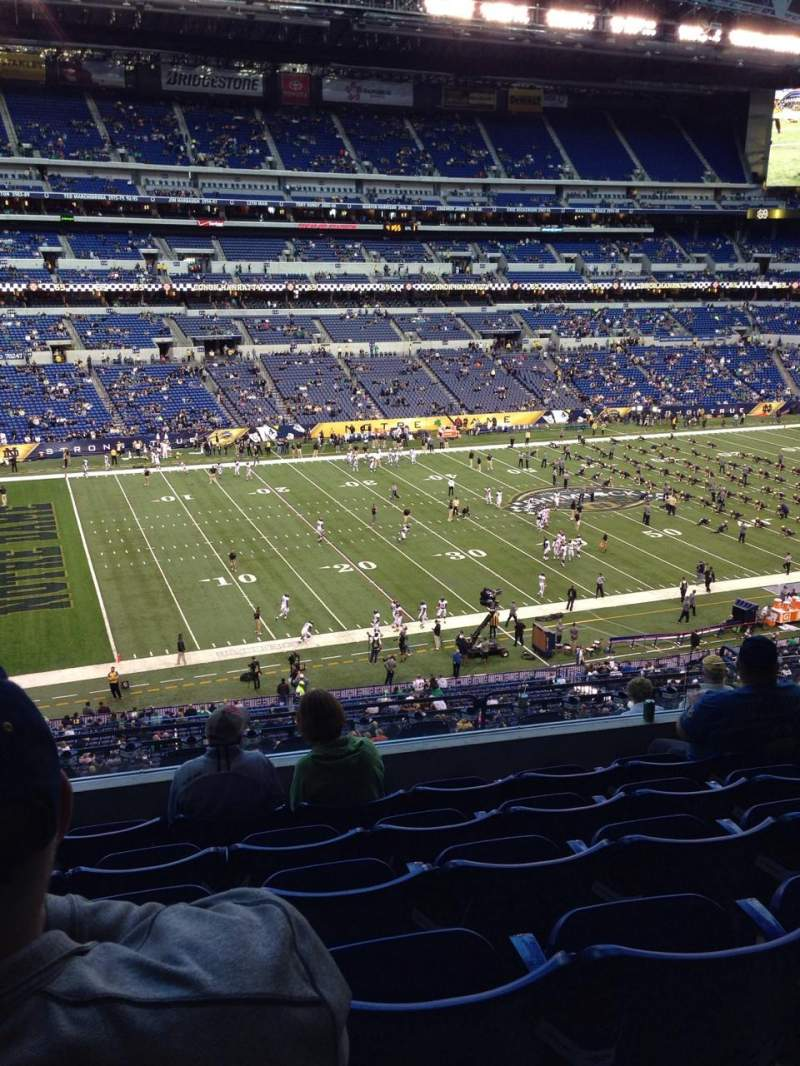 Seating view for Lucas Oil Stadium Section 444 Row 6 Seat 17