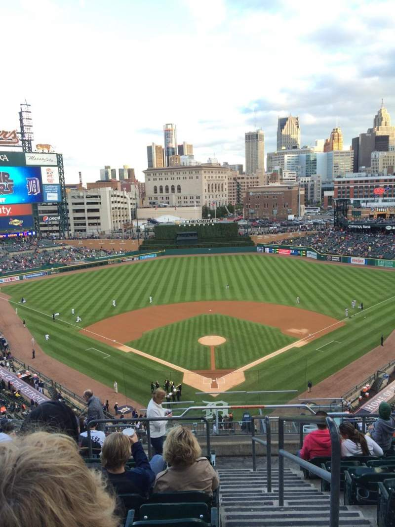 Seating view for Comerica Park Section 328 Row 13 Seat 1