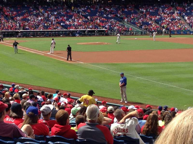 Citizens Bank Park, section: 109, row: 27, seat: 15