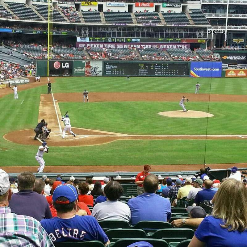 Seating view for Globe Life Park in Arlington Section 30 Row 22 Seat 9