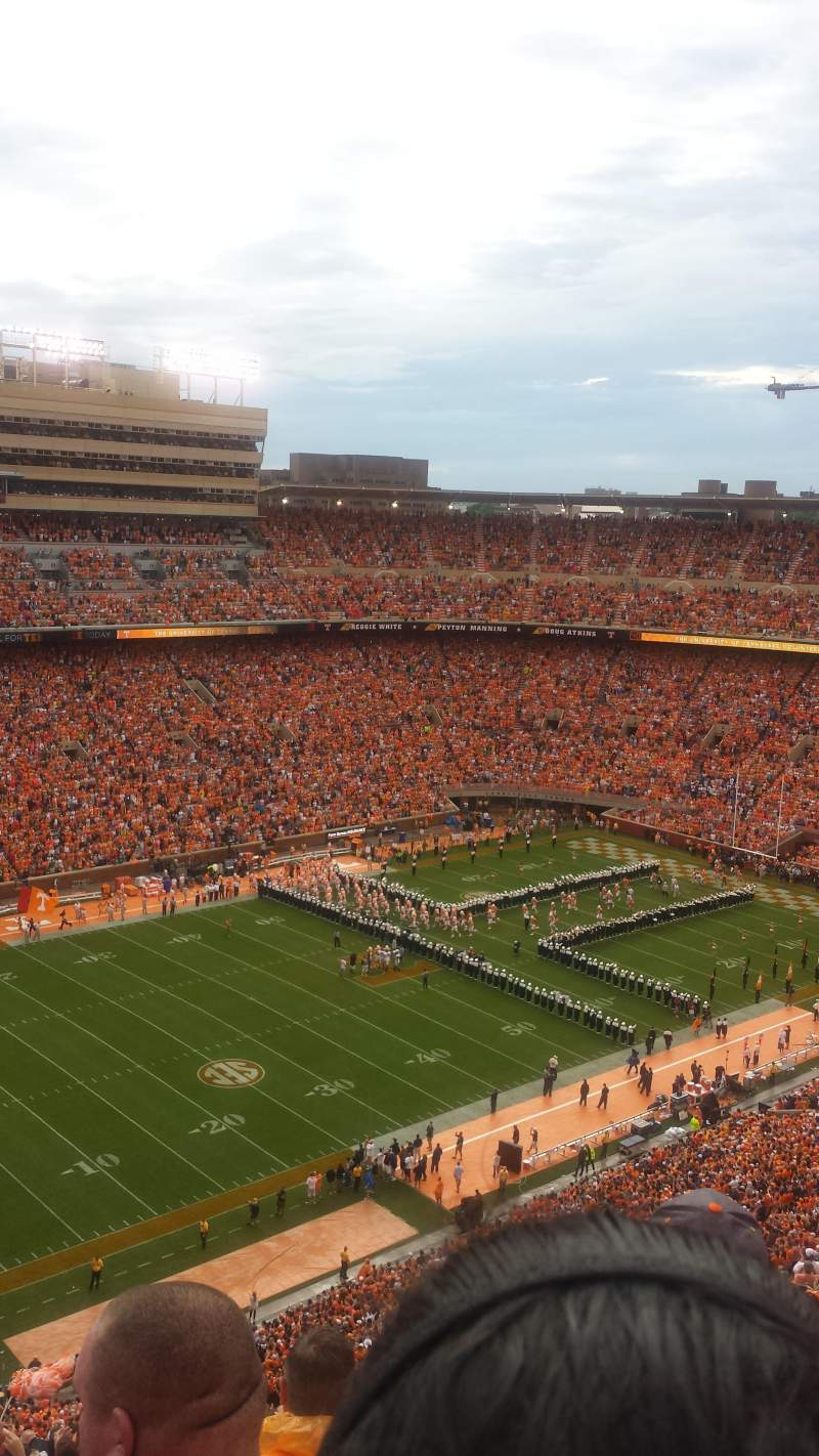 Seating view for Neyland Stadium Section GG Row 31 Seat 65ish