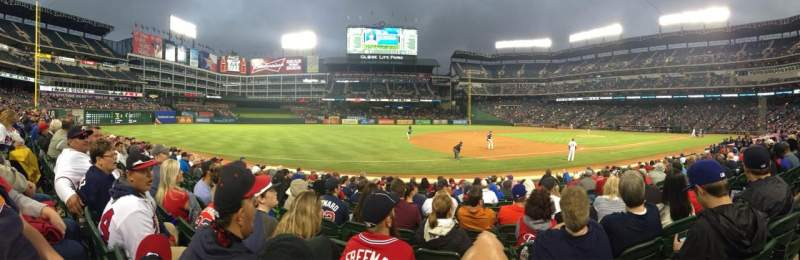 Seating view for Globe Life Park in Arlington Section 16 Row 10 Seat 13