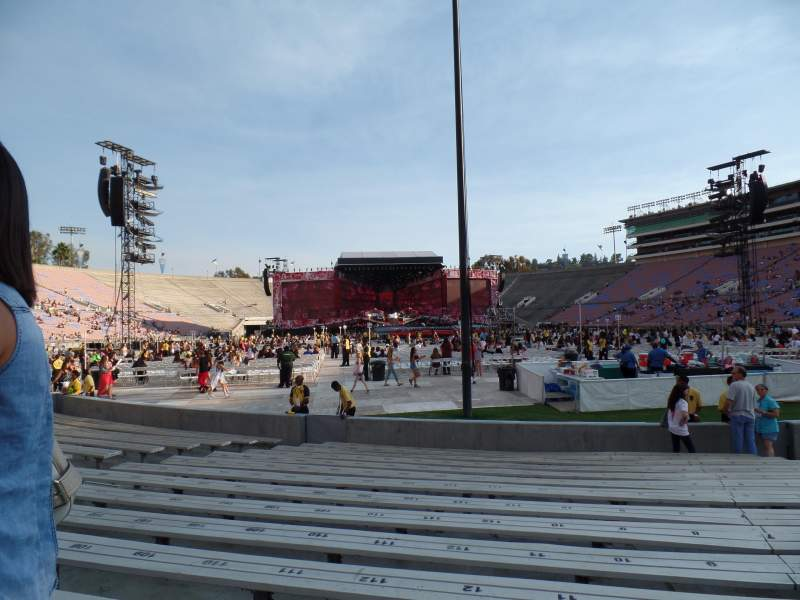 Seating view for Rose Bowl Section 10-H Row 2 Seat 113