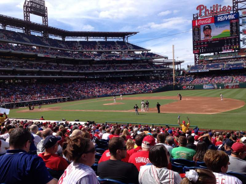 Seating view for Citizens Bank Park Section 114 Row 24 Seat 9