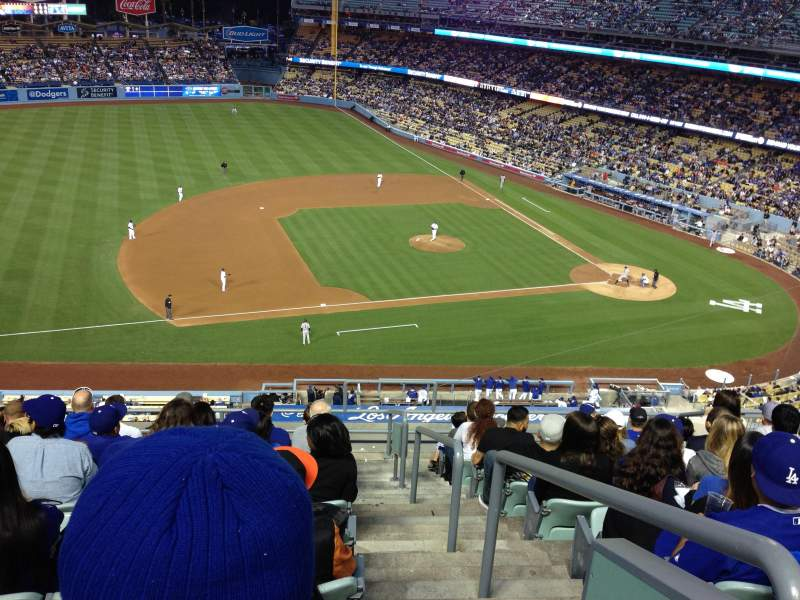 Seating view for Dodger Stadium Section 23RS Row K Seat 1
