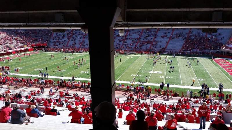 Seating view for Memorial Stadium Section 23 Row 44 Seat 5-8