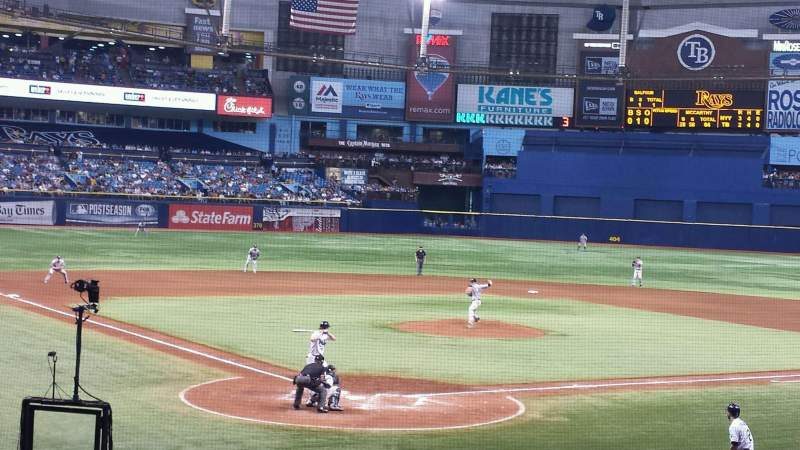 Seating view for Tropicana Field Section 104 Row Y Seat 2