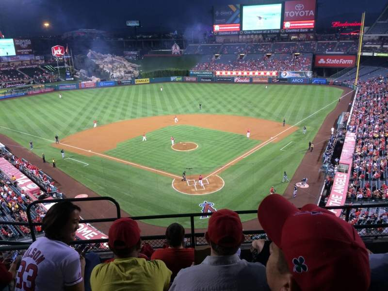 Seating view for Angel Stadium Section V418 Row E Seat 3