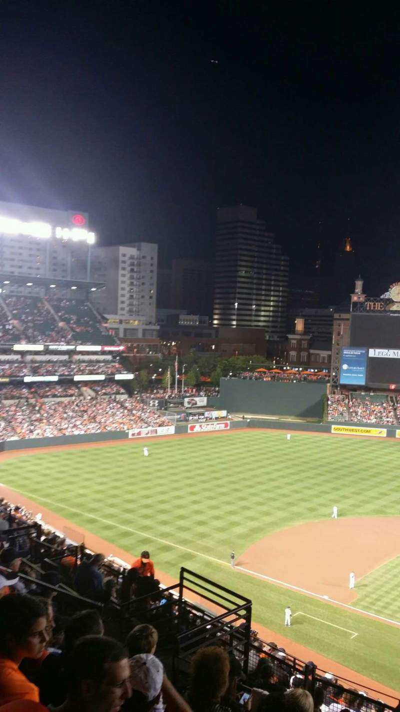 Oriole Park At Camden Yards Section 346 Home Of