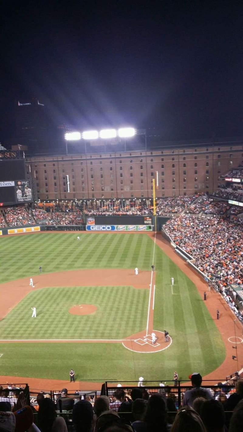 Seating view for Oriole Park at Camden Yards Section 346 Row 14 Seat 8