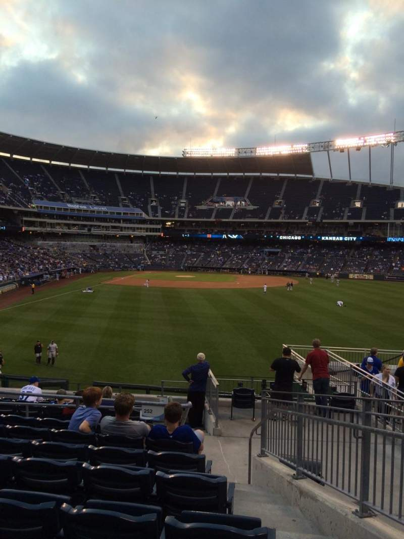 Seating view for Kauffman Stadium Section 252 Row JJ Seat 19